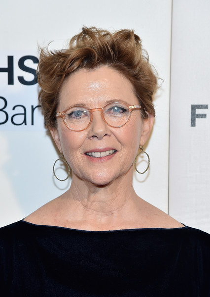 Annette Bening Messy Cut [the seagull,hair,eyewear,face,hairstyle,glasses,eyebrow,chin,shoulder,skin,blond,annette bening,new york city,bmcc tribeca pac,tribeca film festival,premiere]