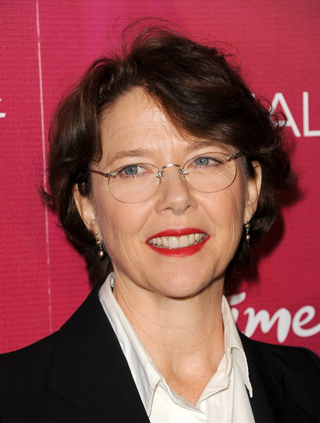 Annette Bening Short Wavy Cut [hair,face,eyebrow,glasses,forehead,eyewear,chin,hairstyle,lip,smile,arrivals,annette benning,lifetimeon,united states,beverly hills,beverly wilshire four seasons hotel,variety,3rd annual varietys power of women event,power of women luncheon]