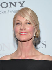 Joely Richardson wore an exquisite pair of 19th century sapphire and diamond fringe earrings at a screening of 'Anonymous' in NYC.