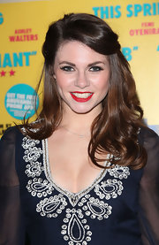 Alison Carroll styled her hair in a romantic half-up, half-down 'do for the UK premiere of 'Anuvahood.'