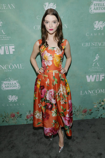 Anya Taylor-Joy Print Dress