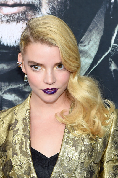Anya Taylor-Joy Side Sweep [hair,blond,face,hairstyle,lip,eyebrow,beauty,lady,nose,long hair,anya taylor-joy,glass,new york,sva theater,premiere,new york premiere]