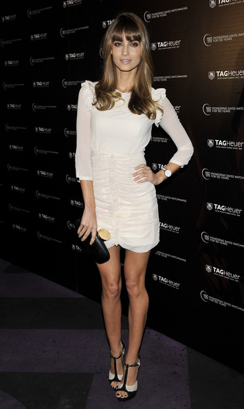 Ariadne Artiles Cocktail Dress [anniversary party,rag heuer,fashion model,clothing,cocktail dress,shoulder,white,dress,fashion,joint,hairstyle,footwear,ariadne artiles attends,model,ariadne artiles,spanish,madrid,spain,tag heuer,anniversary party]