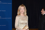 Arianna Huffington Metallic Clutch