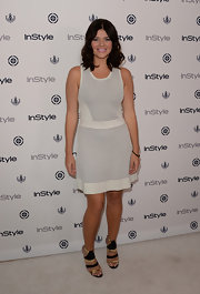 Casey chose a white and gray A-line for the InStyle Summer Soiree.