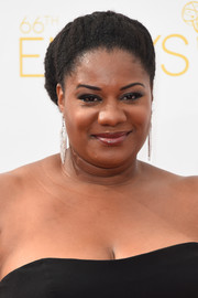 Adrienne C. Moore rocked a voluminous bun at the Emmys.