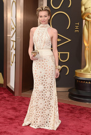 Portia de Rossi wore Naeem Khan to the 2014 Academy Awards.  On-trend and the perfect silhouette!