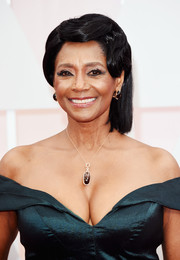 Margaret Avery styled her hair into a finger-wave updo for the Oscars.