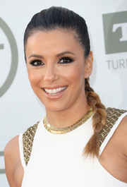 Eva Longoria pulled her hair back into a tight braid for the AFI Life Achievement Award.