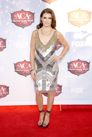 Danica Patrick was all glammed up in a '20s-inspired beaded dress during the American Country Awards.