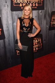 Miranda Lambert revealed her edgier, more daring side at the American Country Countdown Awards with this Alon Livne gown featuring mesh cutouts on the bodice.
