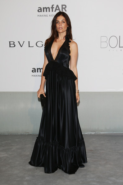 More Pics of Julia Restoin-Roitfeld Bangle Bracelet (1 of 4) - Julia Restoin-Roitfeld Lookbook - StyleBistro [bold films,fashion model,clothing,dress,shoulder,fashion,gown,formal wear,fashion show,long hair,haute couture,arrivals,julia restoin roitfeld,worldview,france,cap dantibes,hotel du cap-eden-roc,amfar,bvlgari,cinema against aids gala]