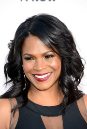 Nia Long wore her hair in edgy-glam waves during the Critics' Choice Awards.