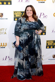 Melissa McCarthy attended the Critics' Choice Awards wearing a tie-dye-print gown of her own design.