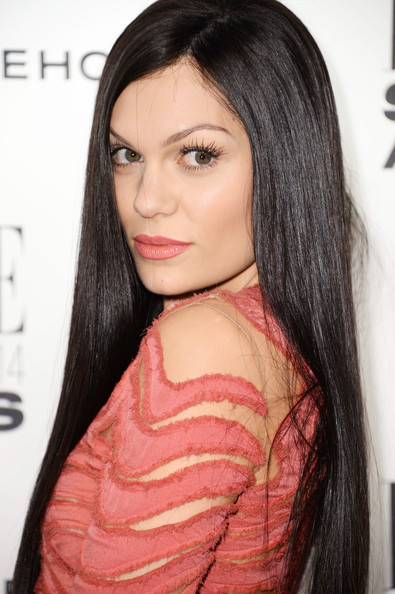 Jessie J wore her hair long, dark, and sleek straight at the Elle Style Awards.