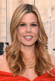 Mary Alice Stephenson left her hair loose with feathered waves for the Feed USA + Target launch.
