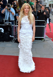 In a sea of sexy dresses at the GQ Men of the Year Awards, Ellie Goulding stood out in her demure white Ermanno Scervino gown.