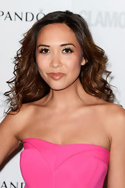 Myleene's lips looked plump and supple thanks to a dark fleshy lip!