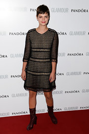 Pixie Geldof chose a black mesh frock for the Glamour Women of the Year Awards in London.