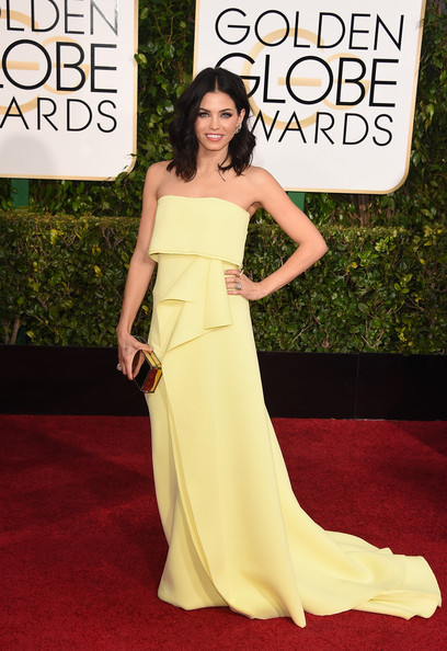 Jenna Dawan-Tatum in Carolina Herrera, Golden Globes 2015
