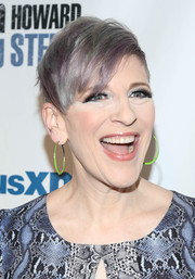 Lisa Lampanelli looked trendy with her emo bangs at Howard Stern's birthday bash.