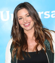 Bianca Kajlich attended NBCUniversal's Summer Press Day wearing her hair in long girly waves.