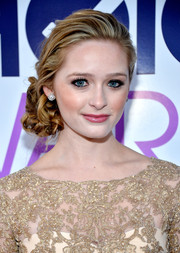 Greer Grammer accentuated her eyes with thick false lashes.