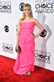 Melissa Rauch looked like Barbie come to life in her strapless pink Rubin Singer gown at the People's Choice Awards.
