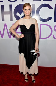 Emily Deschanel went for a modern-chic look with this two-tone BCBG Max Azria dress at the People's Choice Awards.