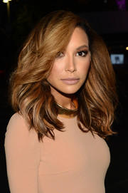 Naya Rivera looked fabulous with her wind-blown waves at the People's Choice Awards.
