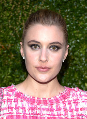 Greta Gerwig kept it classic with this slicked-back bun during the Tribeca Film Festival Artists Dinner.