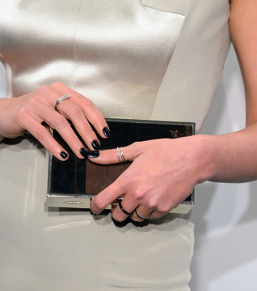 More Pics of Crystal Renn Stackable Rings (1 of 3) - Decorative Rings Lookbook - StyleBistro [hand,wrist,nail,finger,dress,ring,gesture,fashion accessory,waist,beige,arrivals,crystal renn,part,bag detail,new york city,cipriani wall street,amfar new york gala]