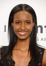 Fatima Siad kept it simple with this straight center-parted 'do when she attended the amfAR New York Gala.