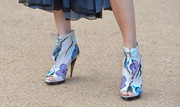 Poppy wore gorgeous hand Burberry booties for the Burberry Prorsum Spring/Summer 2015 show.