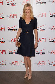 Anna Gunn was simple yet classic in a navy A-line dress during the AFI Awards.