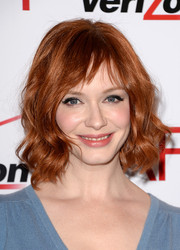 Christina Hendricks looked lovely with her waves and choppy bangs during the AFI Awards.