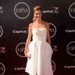 Erin Andrews in a White Ladylike Dress