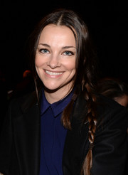 Glenna Neece wore her hair in a hippie-chic center-parted braid during the Rag & Bone fashion show.