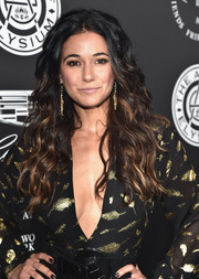 Emmanuelle Chriqui was fabulously coiffed with voluminous ombre waves at the Art of Elysium Heaven Gala.