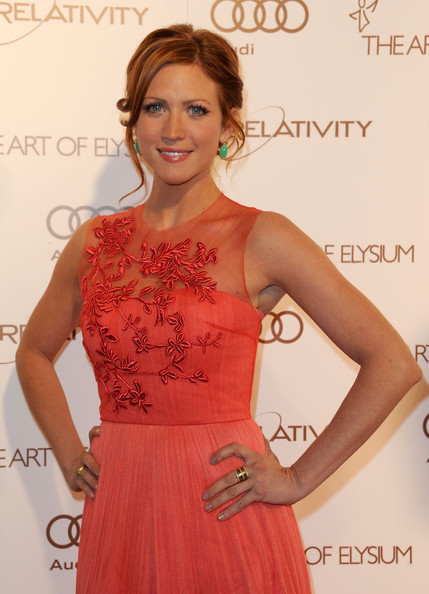 More Pics of Brittany Snow Bobby Pinned Updo (2 of 3) - Brittany Snow Lookbook - StyleBistro