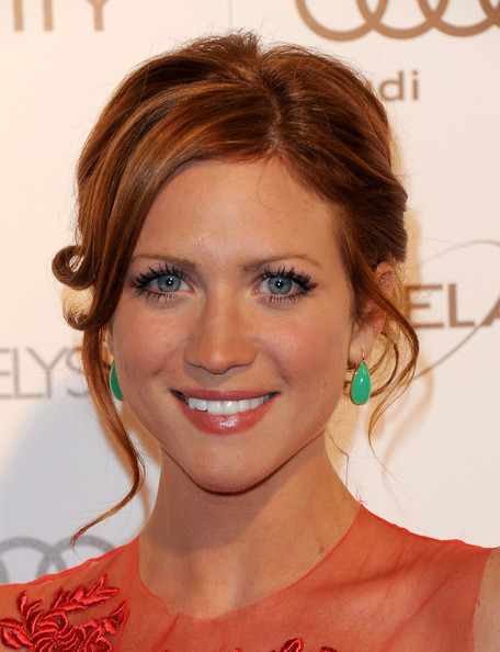 More Pics of Brittany Snow Bobby Pinned updo (1 of 3) - Brittany Snow Lookbook - StyleBistro
