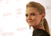 Jennifer Morrison wore her long hair in a sleek low ponytail at the Art of Elysium's 5th Annual Heaven Gala.