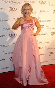 Racheal Harris wore a taffeta pink ball gown to the Art of Elysium Gala.