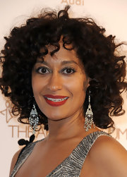 Tracee Ellis dazzled the crowd in a pair of sparkling diamond chandelier earrings at The Art of Elysium Heaven Gala.