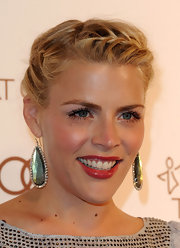 Busy Philipps wore her hair in a loosely French braided updo at the Art of Elysium's 5th Annual Heaven Gala.