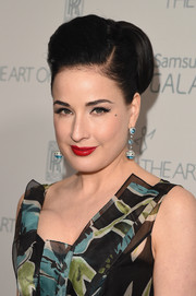 Dita Von Teese looked quite the diva with her voluminous bun at the Art of Elysium Heaven Gala.