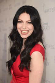 Laura Prepon wore her raven locks down with ladylike waves during the Art of Elysium Heaven Gala.