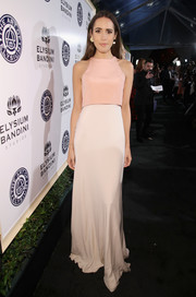Louise Roe kept it simple and feminine at the Art of Elysium Heaven Gala in a layered-bodice gown in two shades of pink.