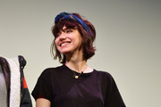 Imogen Poots tamed adorned her casual 'do with a blue headband for the SXSW premiere of 'The Art of Self-Defense.'
