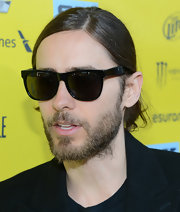 Jared Leto stayed true tot his bad boy image and sported a pair of black wayfarers at the 'Artifact' screening in SXSW.